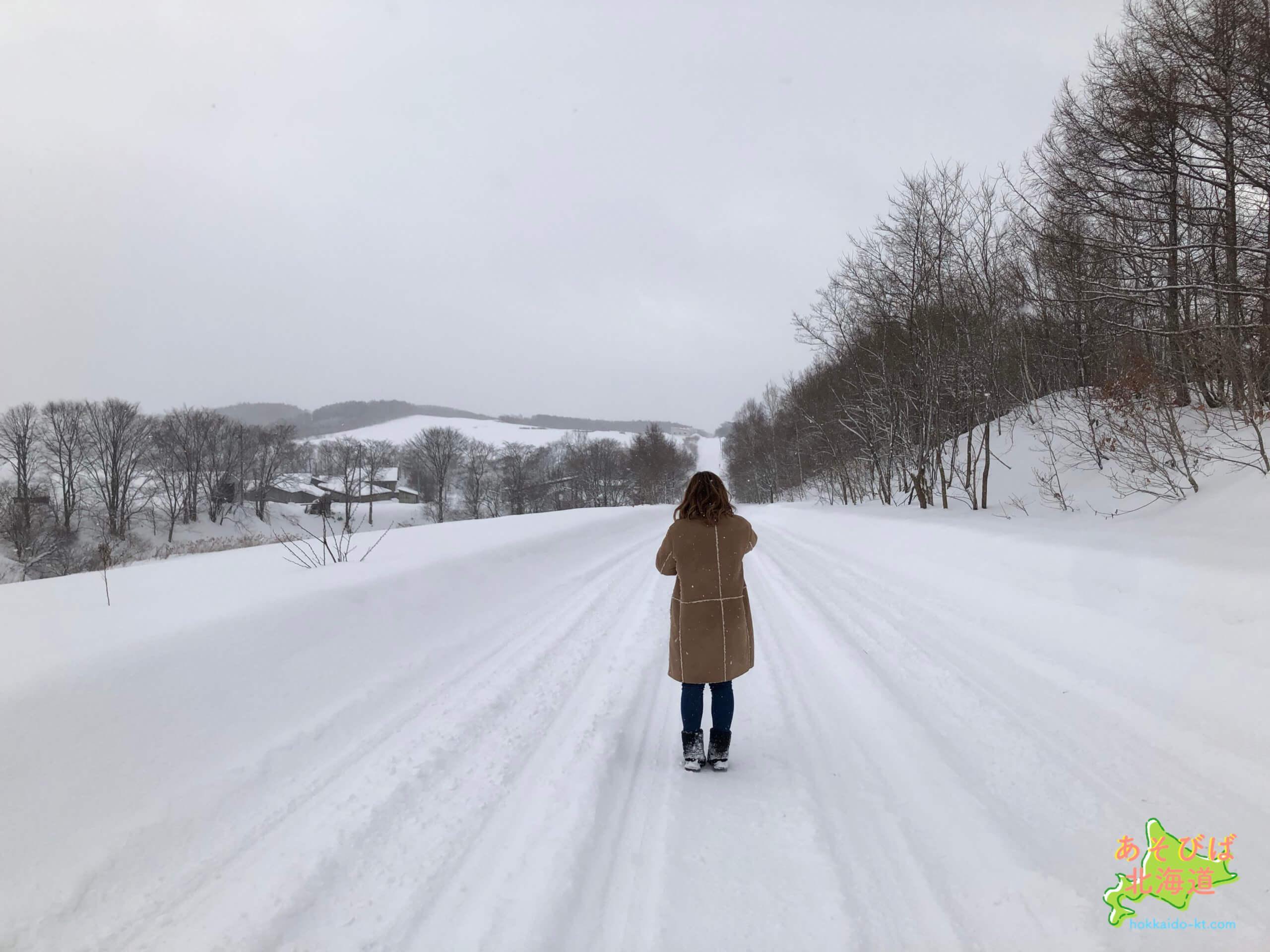 1月の北海道の風景