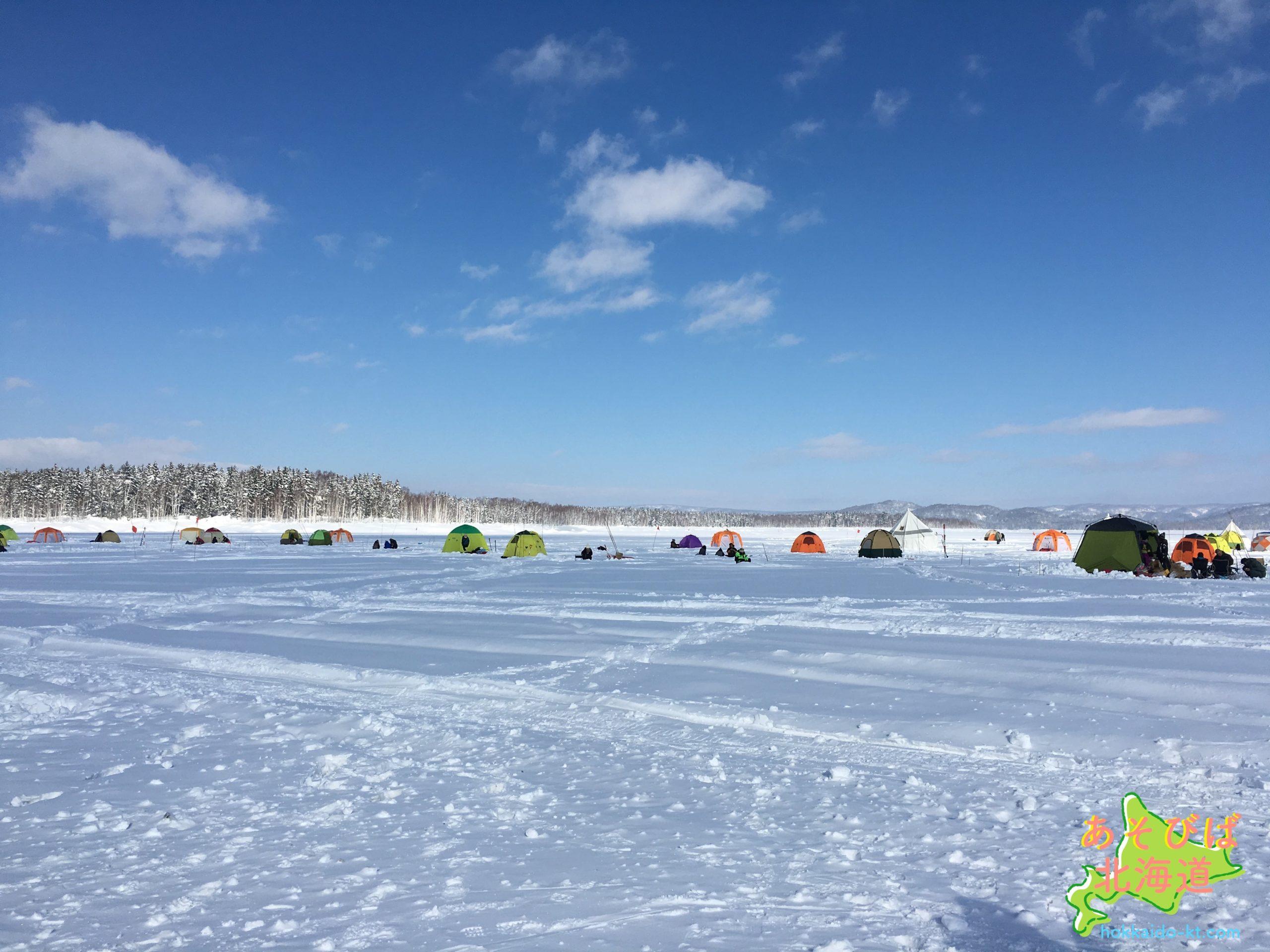 冬の朱鞠内湖