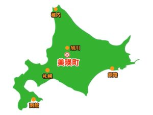 美瑛町場所地図