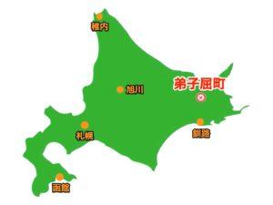 弟子屈町場所地図