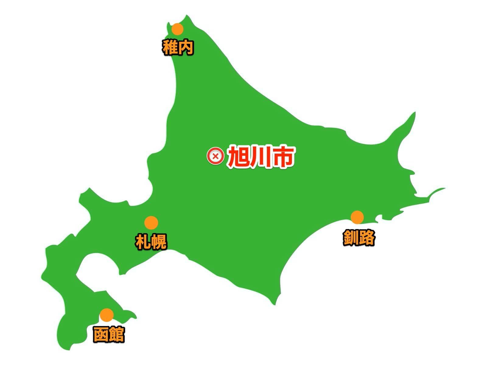 旭川の場所地図