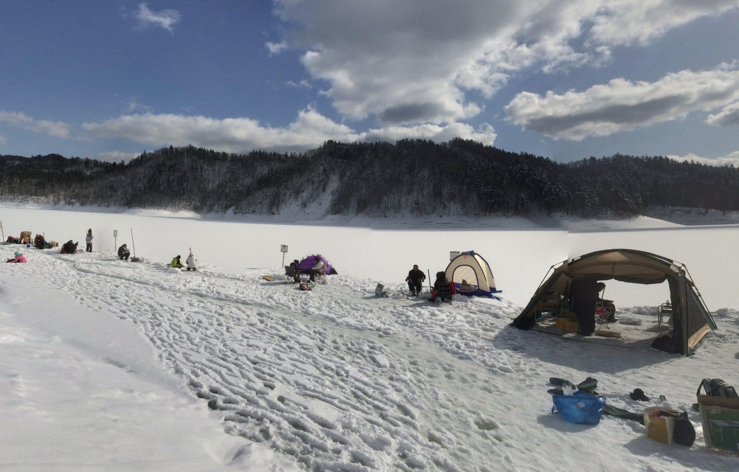 桂沢湖ワカサギ釣り