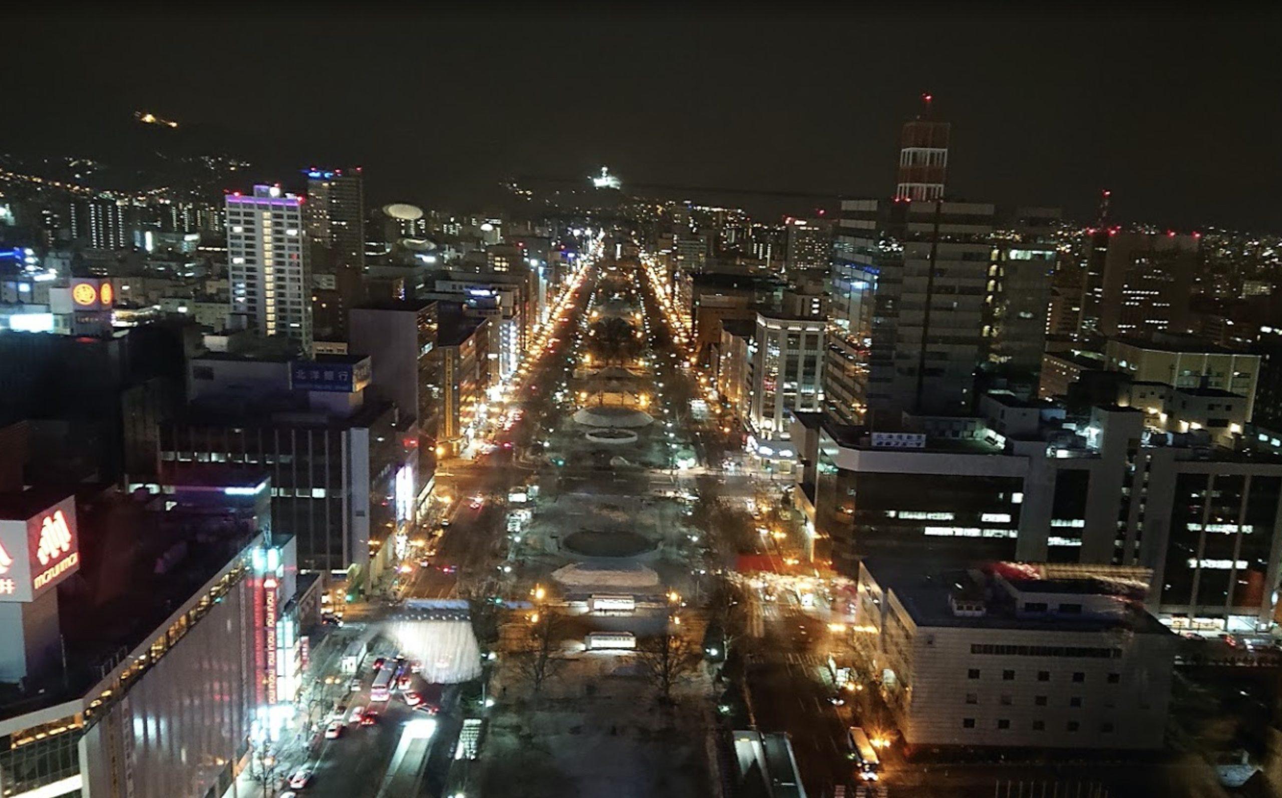 大通公園の夜景