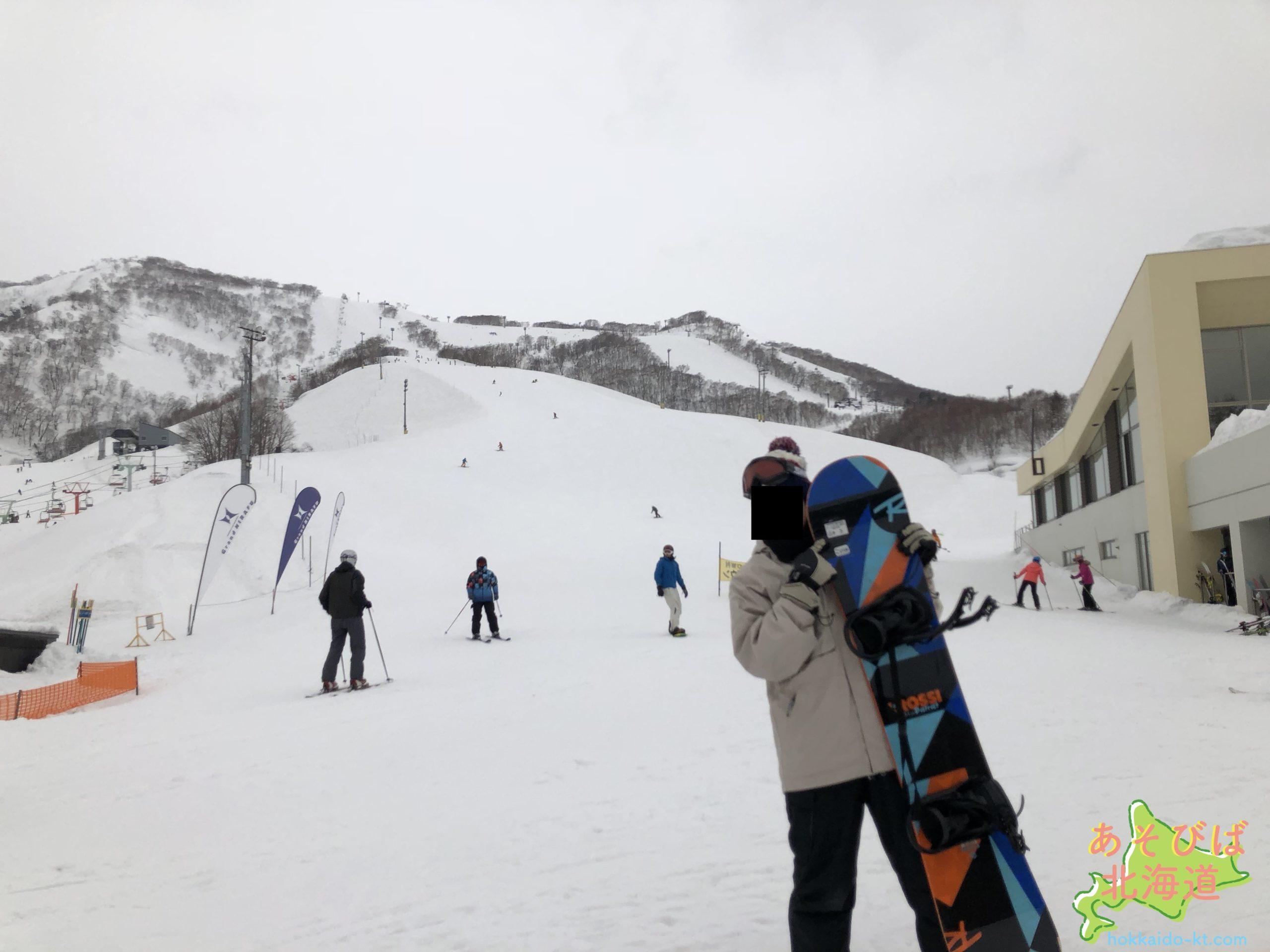 北海道のスキー場風景