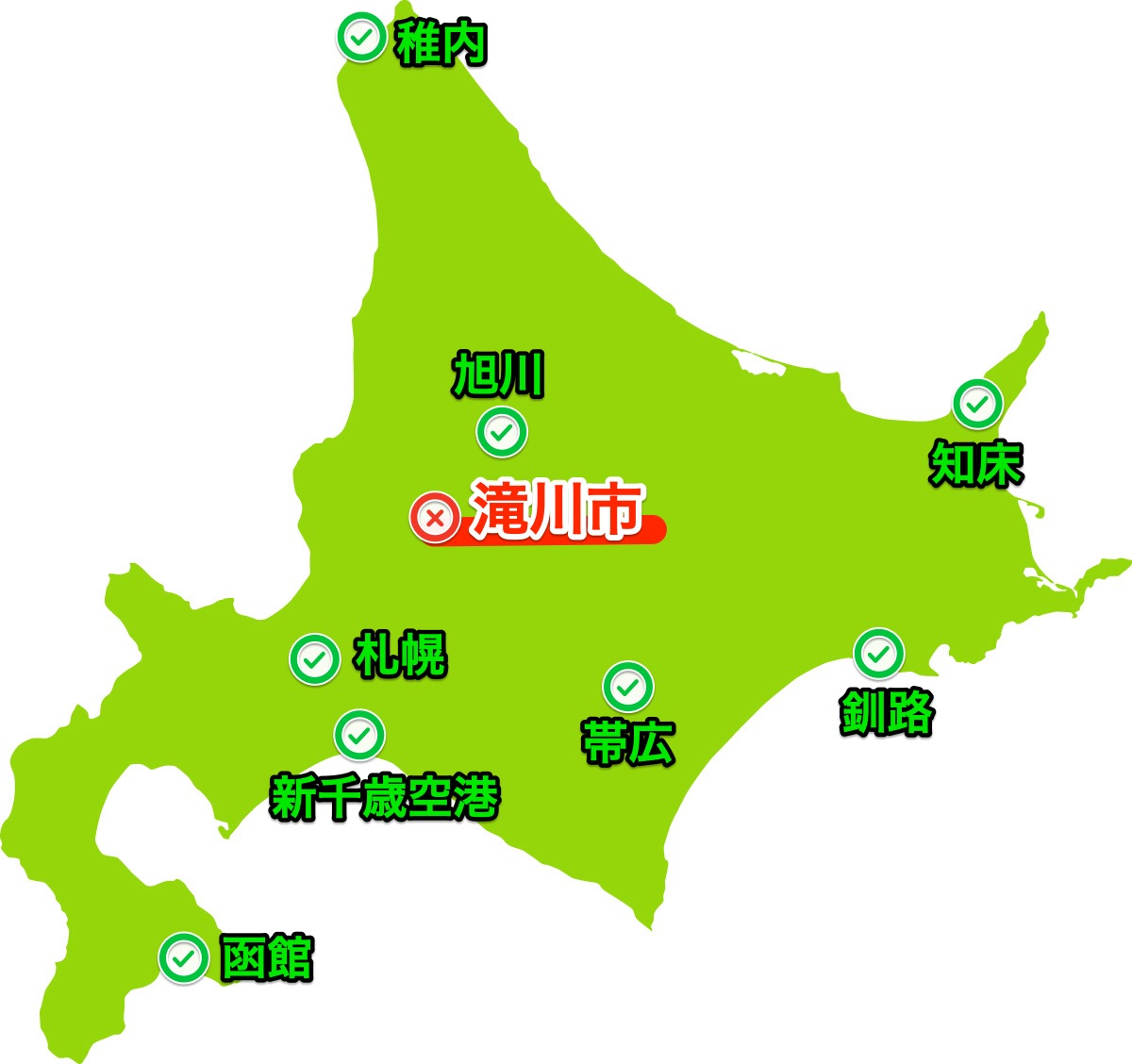 滝川市マップ