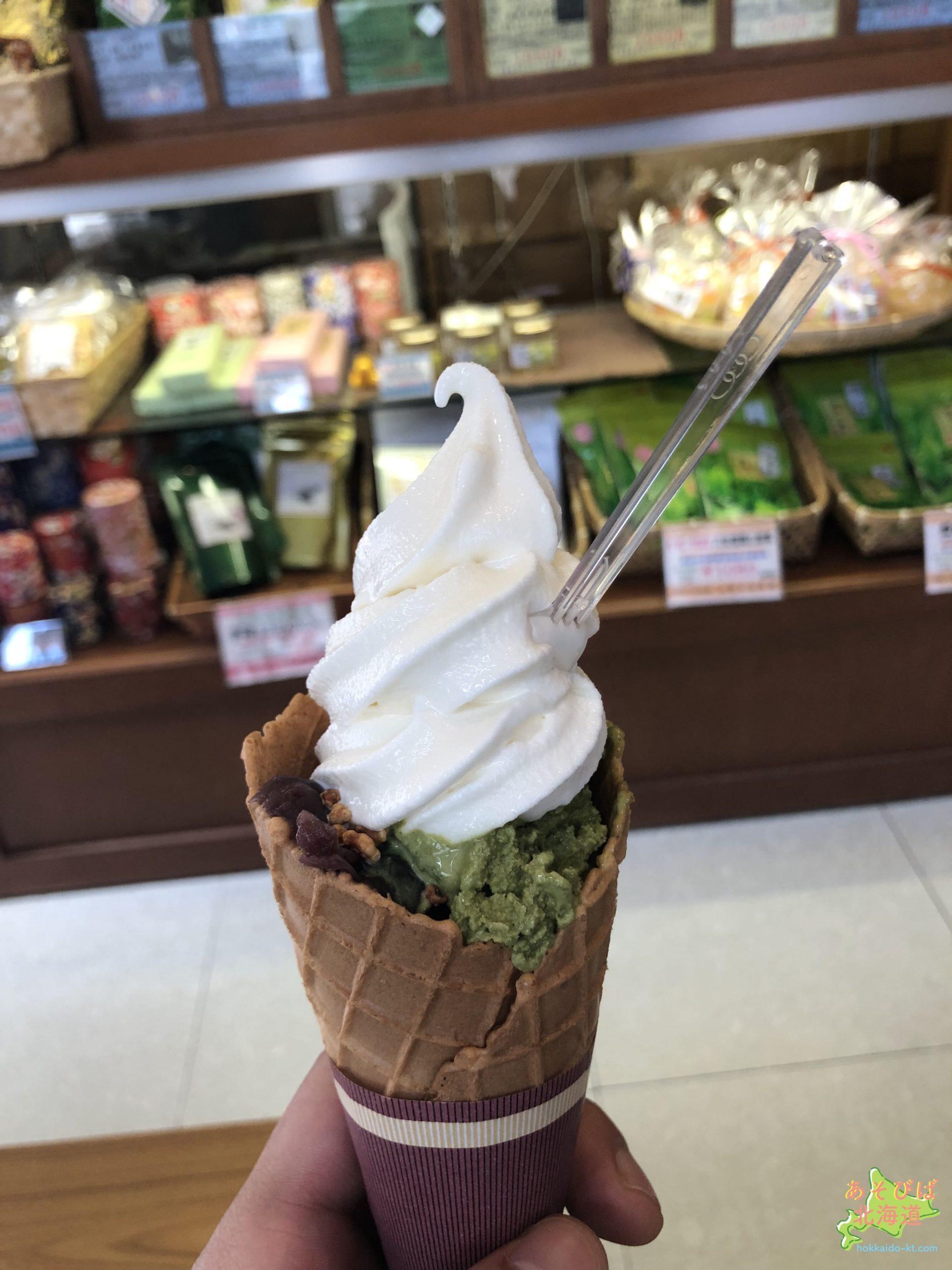 玉翠園のソフトクリーム