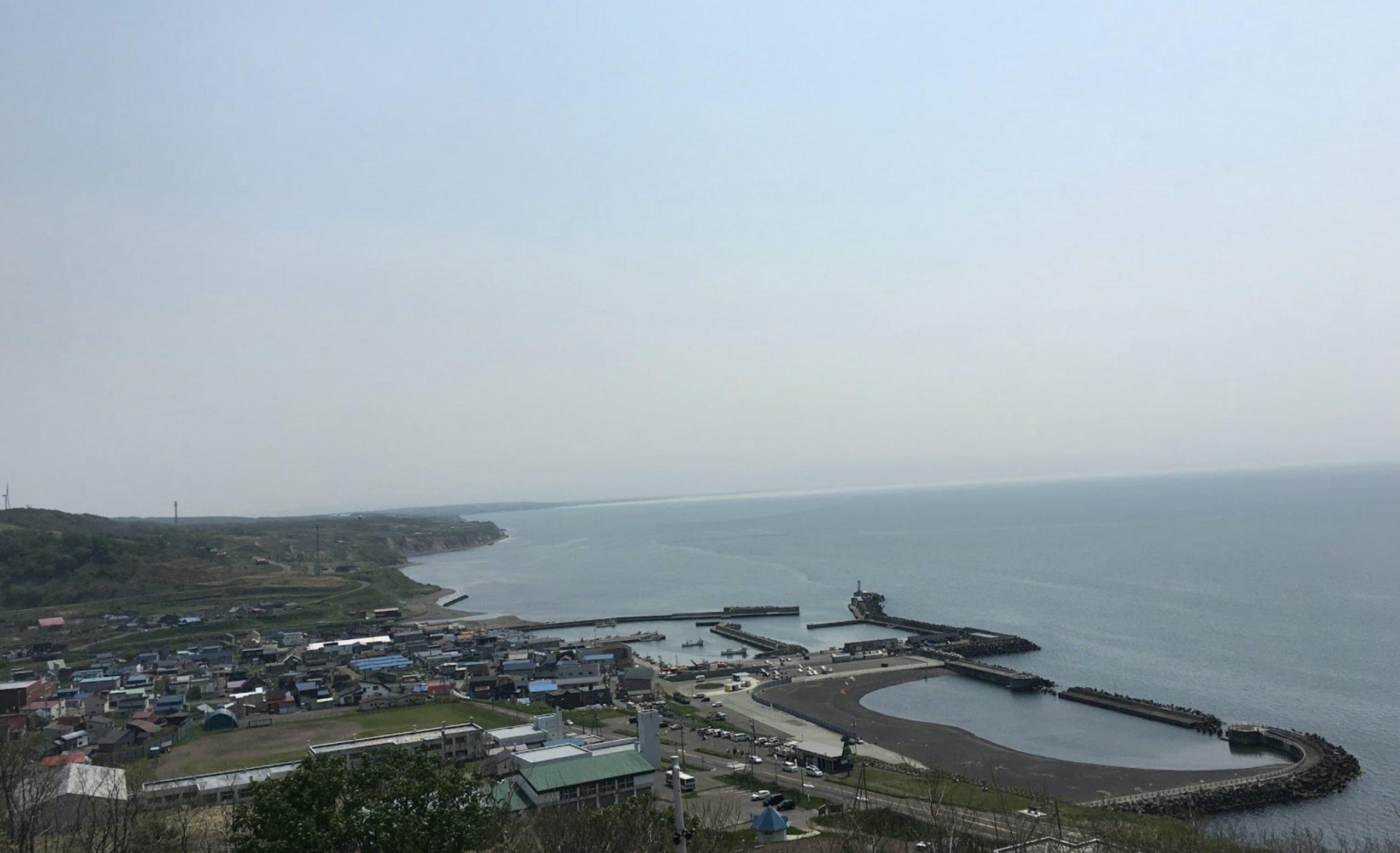 厚田公園展望台からの風景