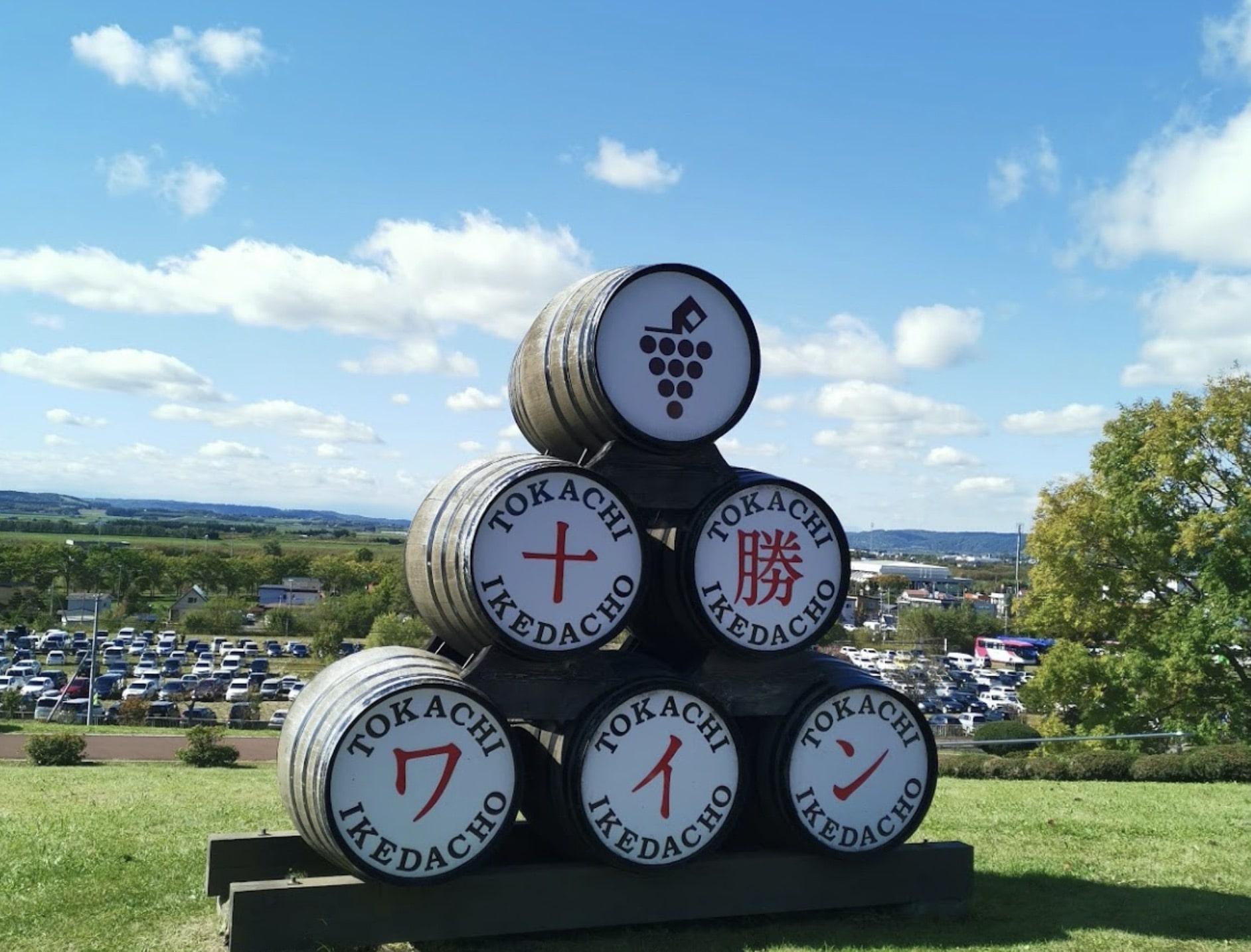 池田町ワイン祭り会場の風景