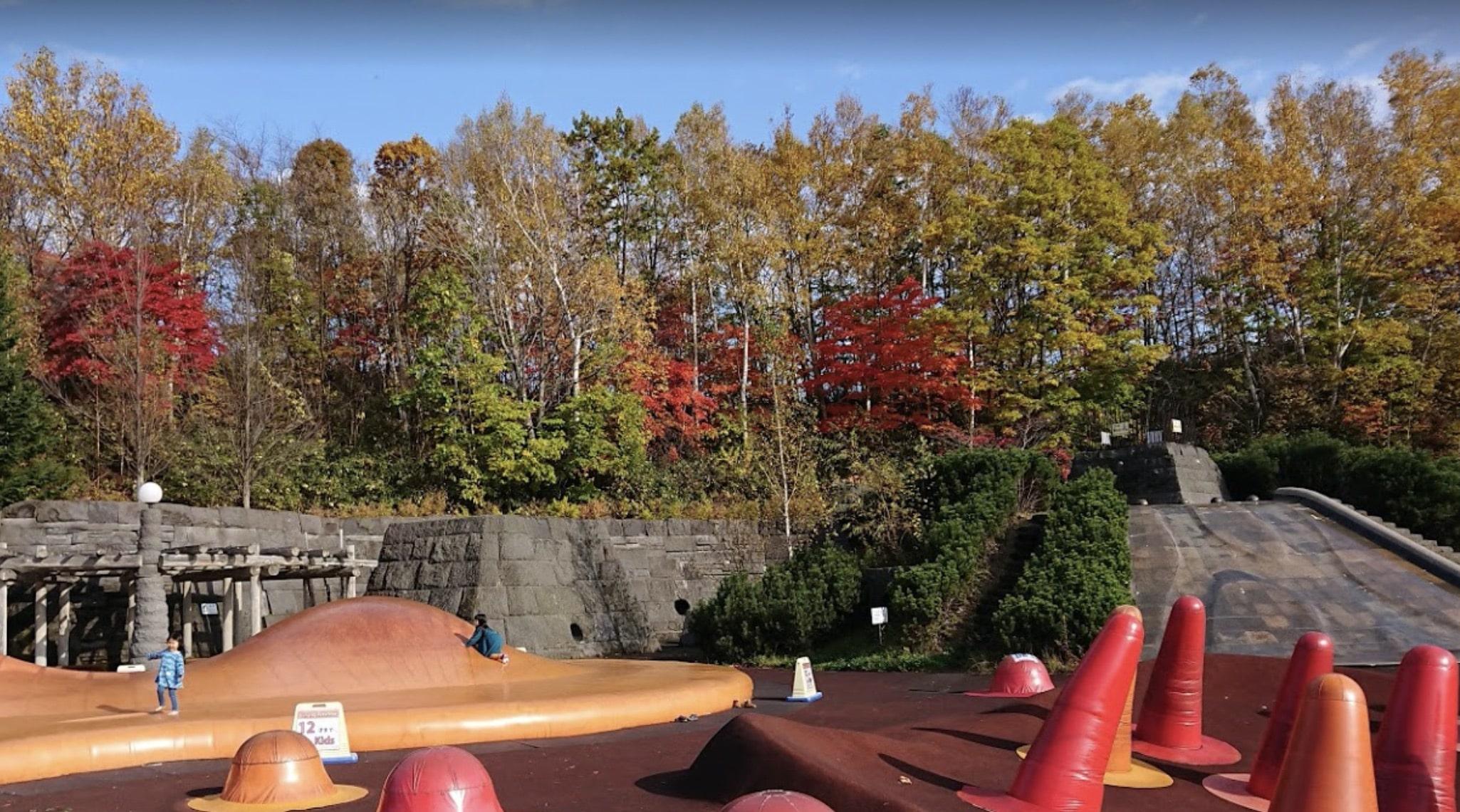 滝のすずらん公園の紅葉