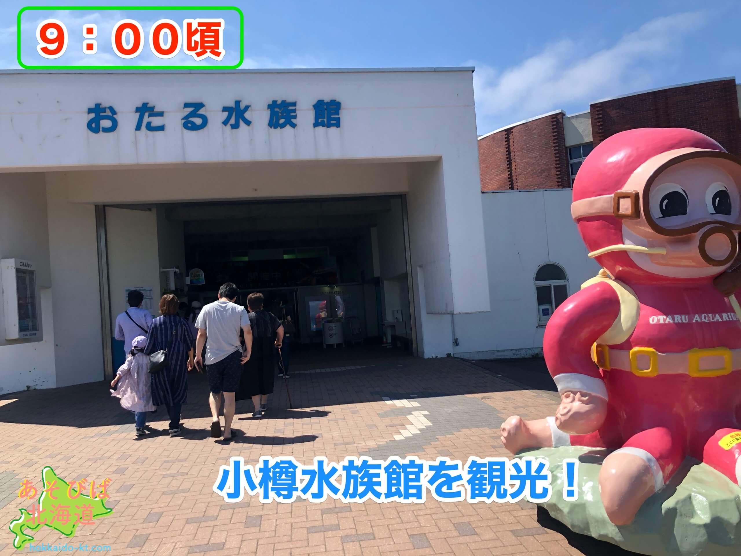 小樽1日観光モデル小樽水族館
