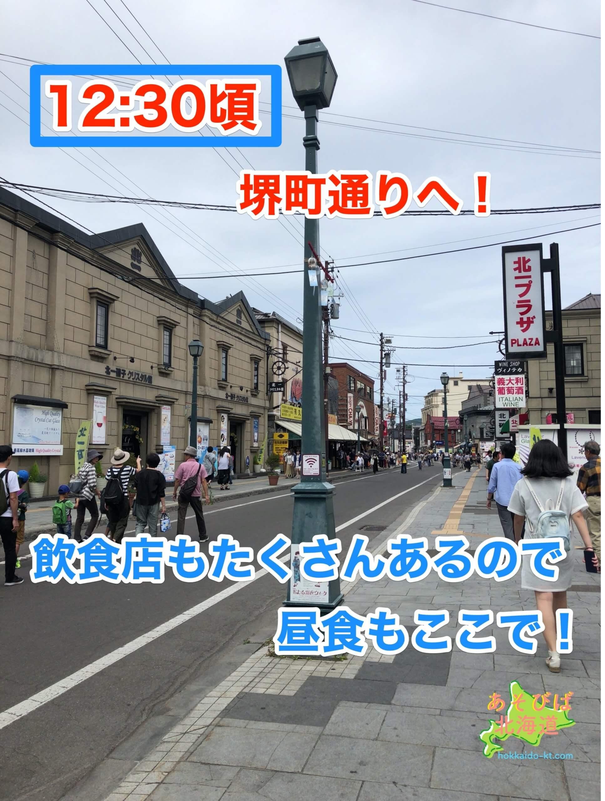 小樽半日モデル堺町通り