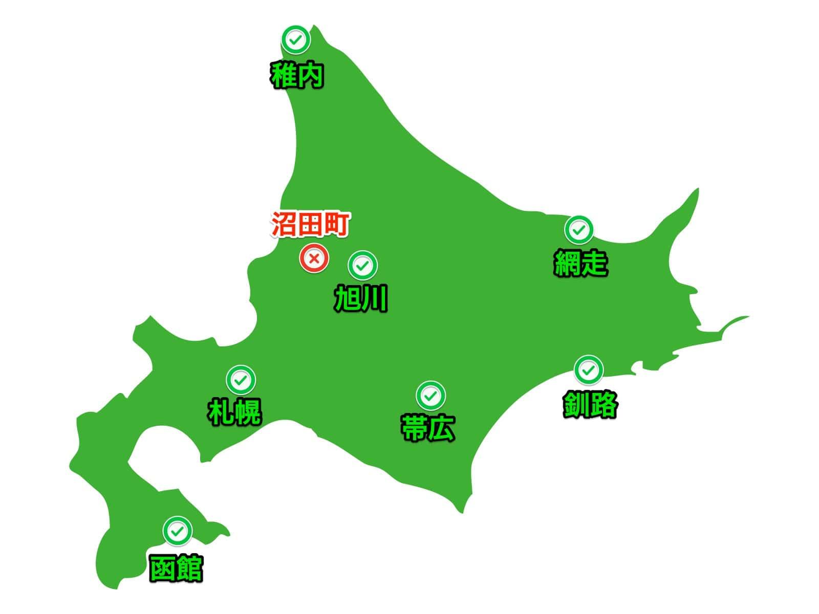 沼田町地図