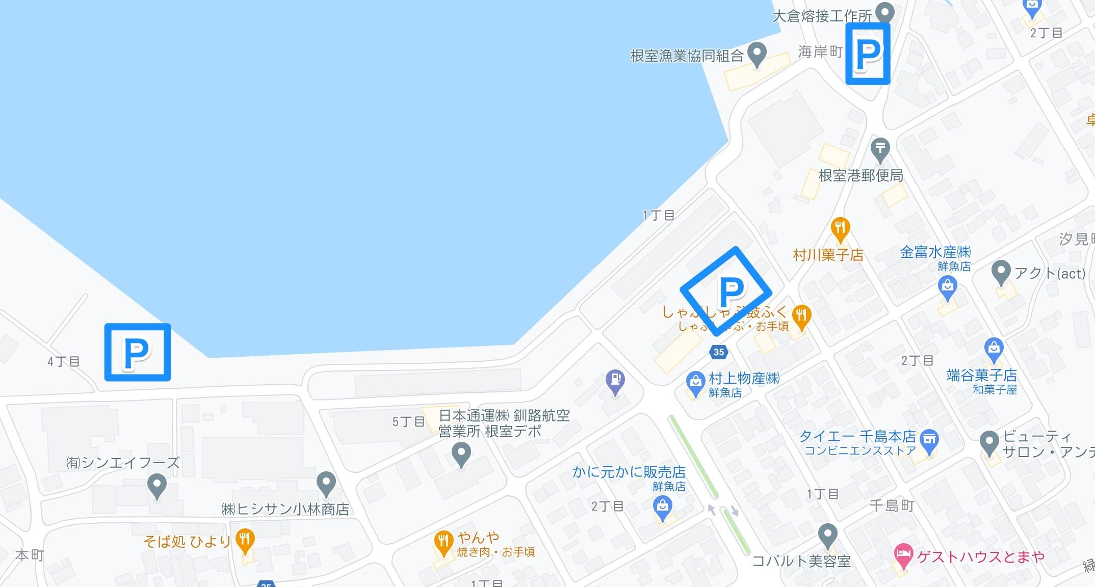 根室さんま祭り駐車場マップ