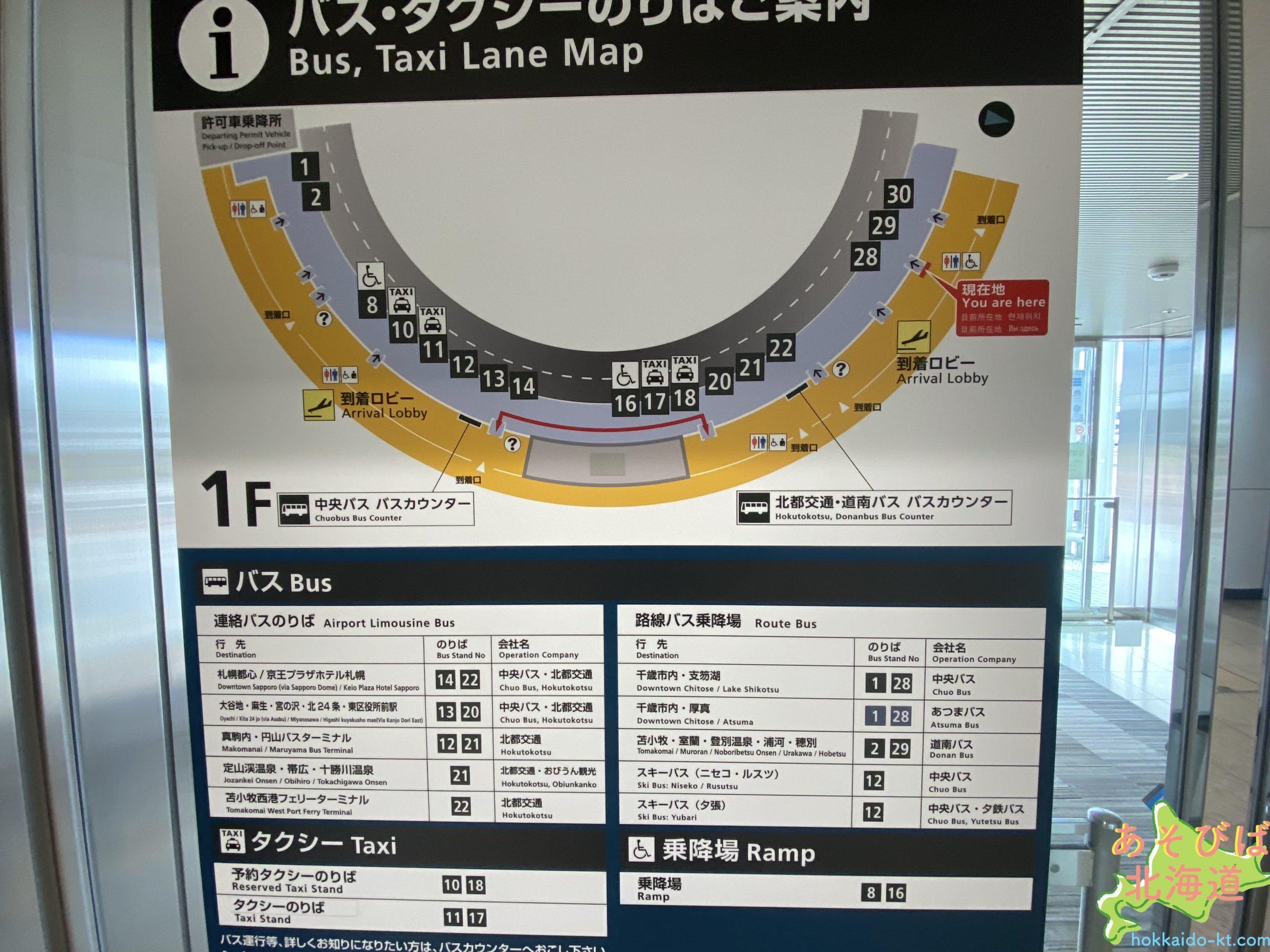 新千歳空港バス乗り場マップ