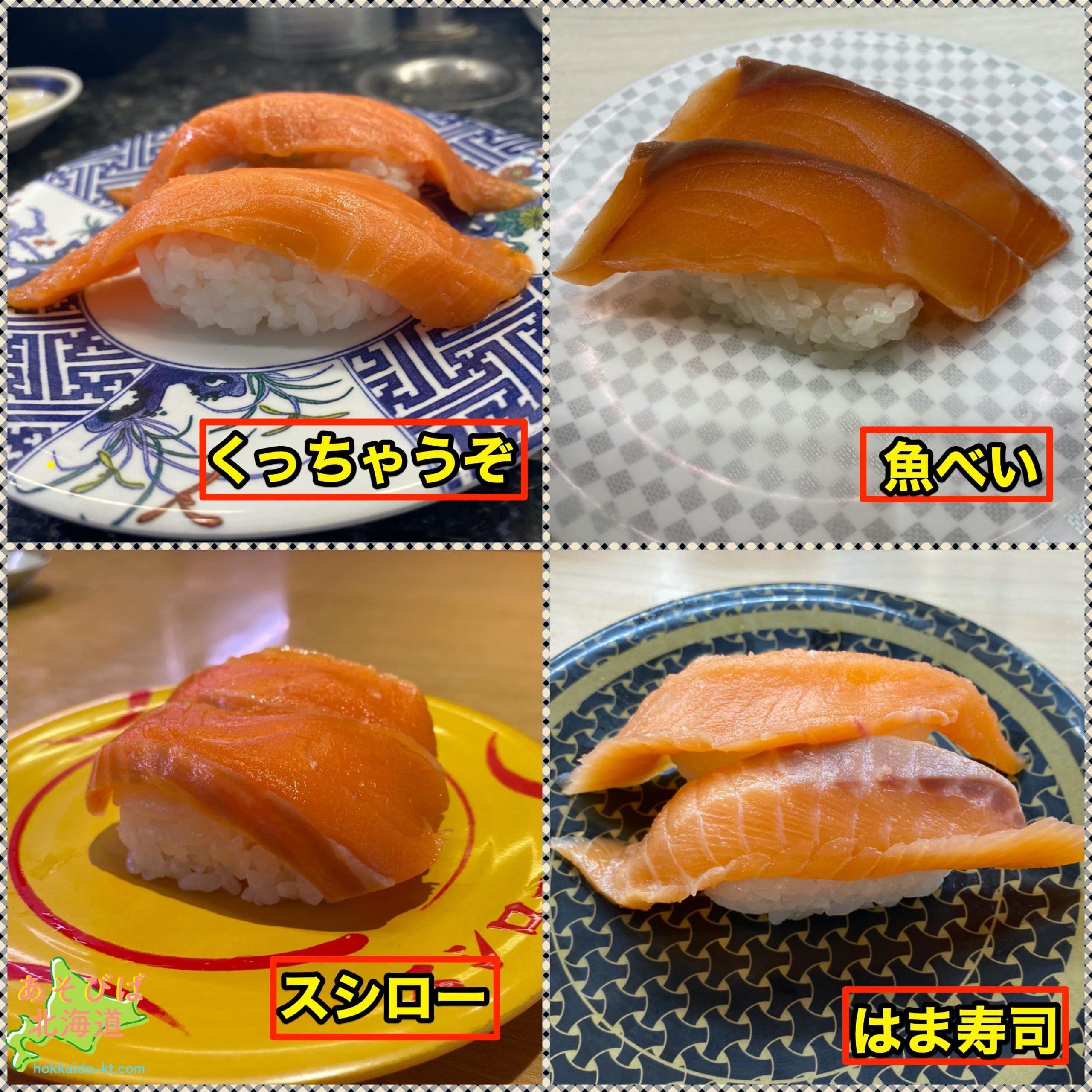 札幌安い寿司サーモン比較