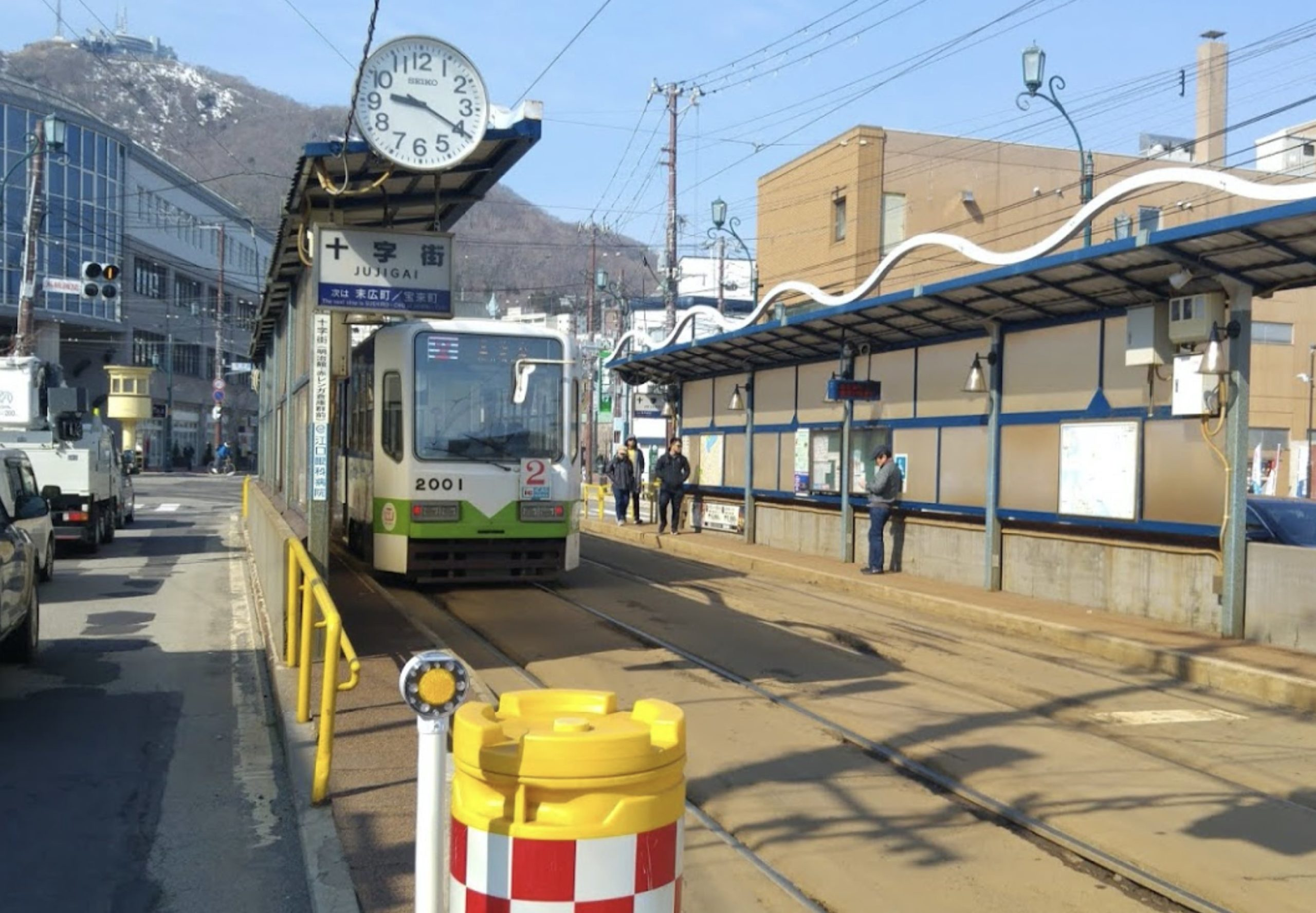 函館市電十字街駅