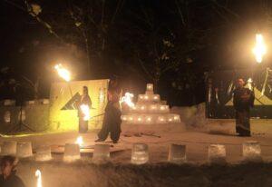 雪灯路ファイヤーダンス