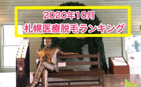 2020年10月札幌医療脱毛ランキング