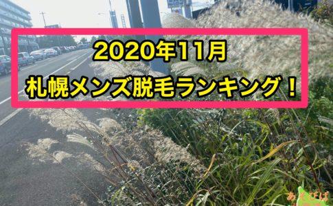 2020年11月札幌メンズ脱毛ランキング
