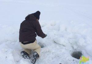 2月の北海道でわかさぎ 釣りの服装