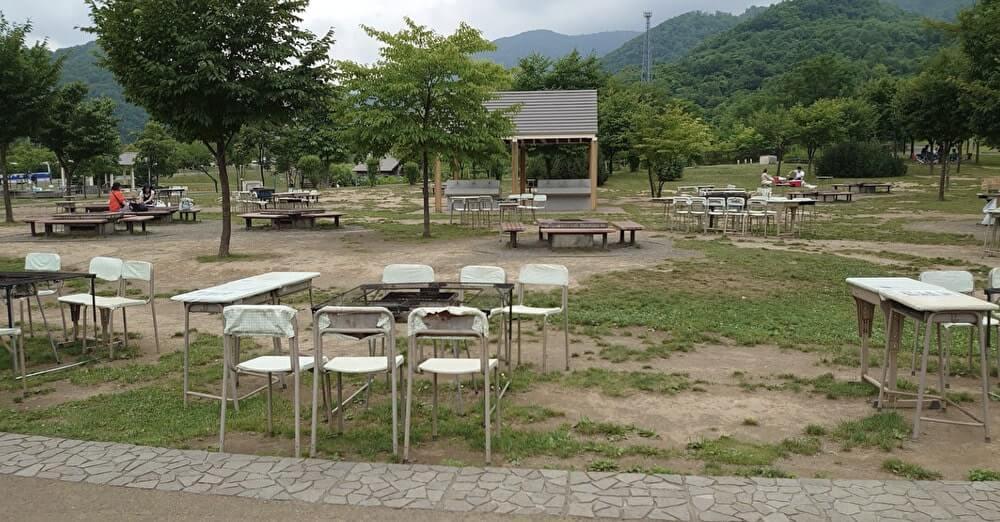 五天山公園の炊事広場