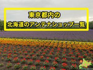 東京都内の北海道アンテナショップ一覧