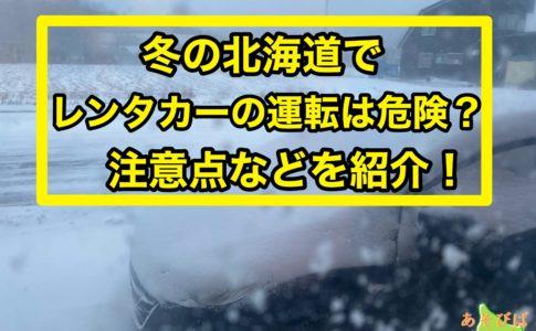 冬の北海道でレンタカーの運転は危険?
