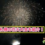 札幌の花火大会を紹介