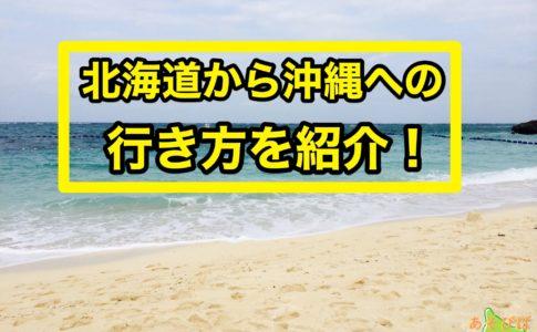 北海道から沖縄への行き方を紹介