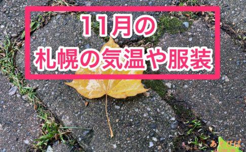 11月の札幌の気温や服装