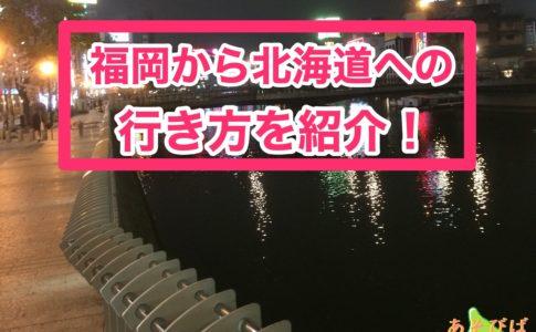 福岡から北海道への行き方を紹介