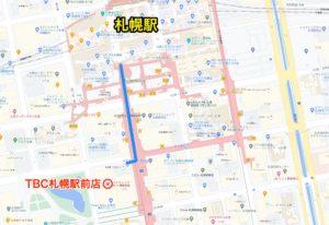 TBC札幌駅前店マップ